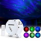 Bammax Lámpara Proyector Estrellas, Lampara Luz Nocturna LED para Bebés Adultos, Tres Modos para Habitación y Dormitorio, Regalo Cumpleaños Navidad, Blanco