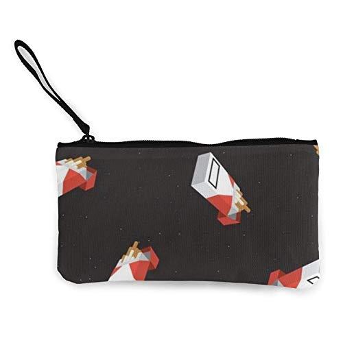 XCNGG Monederos Bolsa de Almacenamiento Shell Cigarette Canvas Coin Purse with Zipper Coin Wallet Multi-Function Small Purse Cosmetic Bags For Women Men