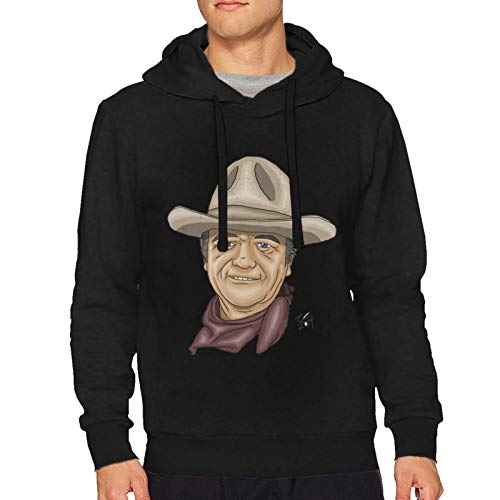 John Wayne Men's Hoodie SweatshirtBlack Medium Sweater 2020 Latest Inspiration Design
