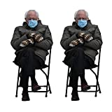 """4.25"""" by 2"""" size - Large Sticker Quantity Discount Available Perfect for Laptop, Water Bottle, Office, Fridge and More Clear Background so You Can Put Bernie Perfectly Anywhere You Want Recommended for Indoor Use Only"""