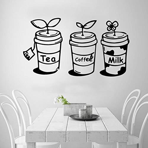 KBIASD Divertido té café Mike pared arte calcomanía decoración de la casa pegatina de cocina para decoración de habitación de niños calcomanías de pared 43X78cm