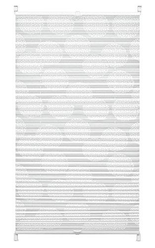 Gardinia Plissee zum Klemmen, Blickdichtes Faltrollo, Alle Montage-Teile inklusive, EASYFIX Plissee Maja verspannt mit zwei Bedienschienen, Weiß, 80 x 130 cm (BxH)