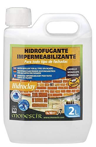 Hidroclay Hidrofugante impermeabilizante de fachadas MONESTIR 2L