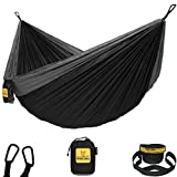 Wise Owl Outfitters Hammock Camping Double & Single with Tree Straps - USA Based Hammocks Brand Gear, Indoor Outdoor Backpacking Survival & Travel, Portable SO