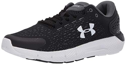 Under Armour Women's Charged Rogue 2 Running Shoe, Black (001)/White, 8.5 Wide