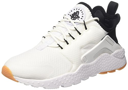 Nike Wmns Air Huarache Run Ultra, Entrenadores para Mujer, Blanco (White/Black/Gum Yellow/White), 38 EU