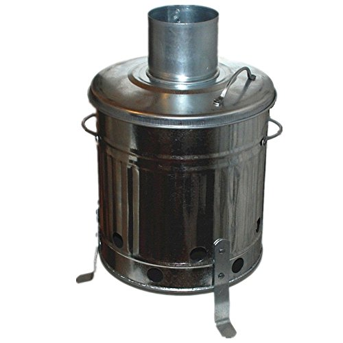 VSL 15 Litre Galvanised Mini Incinerator - Rubbish Waste Burner Fire Pit