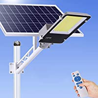LEDソーラーストリートライト、屋外の夕暮れ、リモコン、防水、駐車場、スタジアム、ヤード、ガレージ、ガーデンに最適,400w