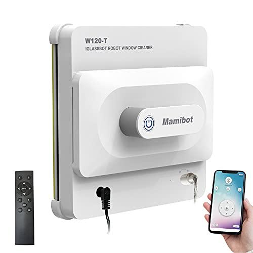 Mamibot W120-T Limpiador robótico de Ventanas Robot automático Limpieza de Cristales con Control Remoto y aplicación para teléfonos Inteligentes