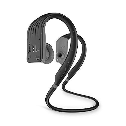 JBL Endurance Jump - Auriculares Inalámbricos Deportivos intraurales con sujeción al cuello, Resistentes al agua, Activación inmediata on y off según se insertan o no al oído, Color Negro, Amarillo