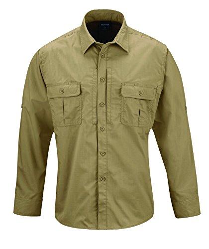 Propper Men's Kinetic Long Sleeve Shirt, Khaki, Medium