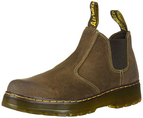 Dr. Martens Men's Hardie Chelsea Boot, Dark Brown, 10 Regular UK (11 US)