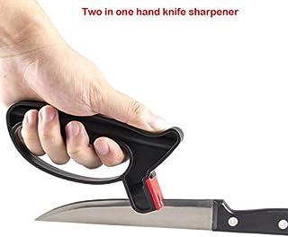 practical Professional Knife Sharpener 2 In 1 Handheld Knife Scissor Sharpening Tool Perfect Grindstone Knife Stone Kitchen Tool - Grindstone
