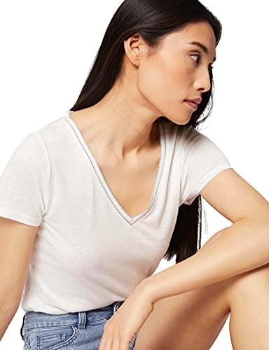 Morgan Tshirt DERVI Camiseta, Off White, M para Mujer