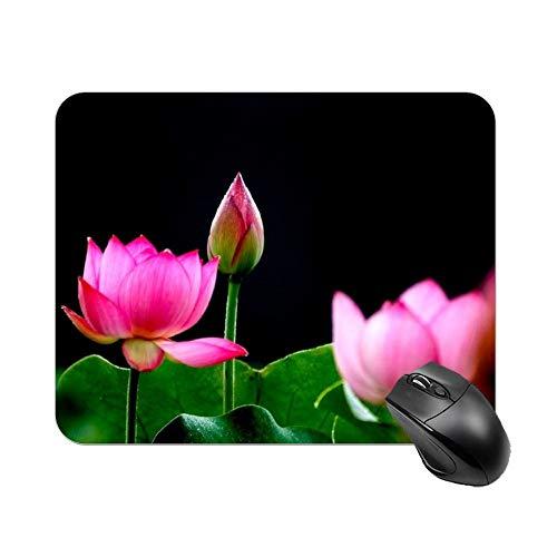 Alfombrilla de ratón para juegos hermosa Lotus escritorio y portátil 1 paquete de 30 x 25 x 2 cm.