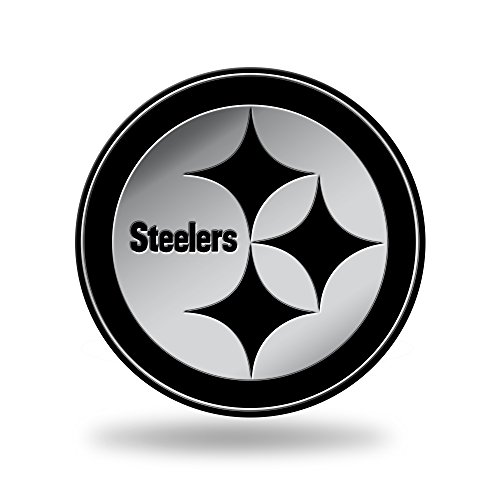 NFL Rico Industries  Chrome Finished Auto Emblem 3D Sticker, Pittsburgh Steelers