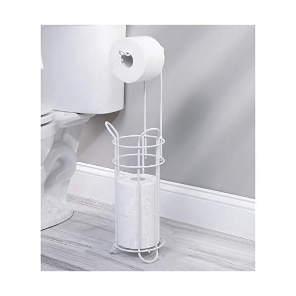 mDesign Portarrollos de papel higiénico autoportante – Moderno dispensador