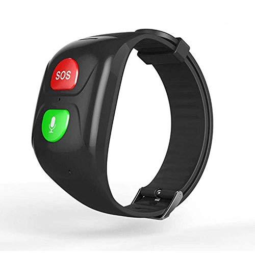 LOVOVR - Pulsera Inteligente con GPS para Personas Mayores, Llamada De Emergencia, Función De Alarma De Caída,frecuencia Cardíaca, Chat De Voz, Monitor De Sangre