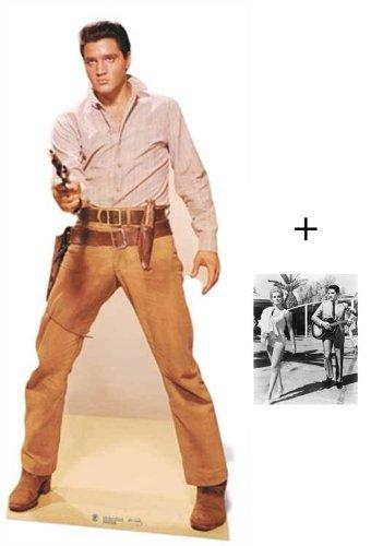 Fanbündel - Elvis Presley Gunfighter Lebensgrosse Pappfiguren / Stehplatzinhaber / Aufsteller - Enthält 8X10 (25X20Cm) starfoto
