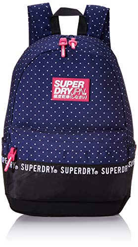 Superdry Damen Repeat Series Montana Rucksackhandtasche Blau (Navy Dot)