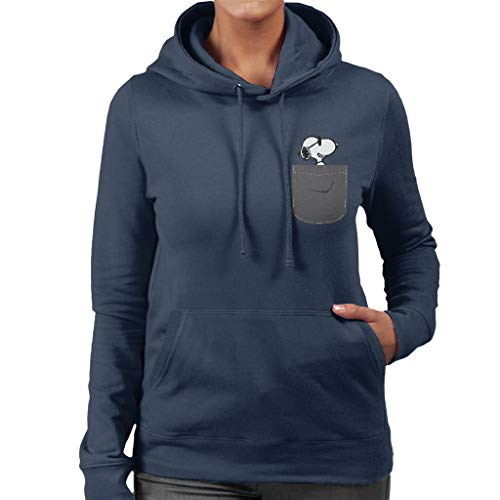 Cloud City 7 Snoopy Pocket Print Peanuts Women's Hooded Sweatshirt