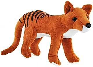 Elka Australia Tasmanian Tiger Thylacine Soft Plush Toy Standing - Medium Brown