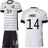 adidas UEFA Fußball DFB Deutschland Heimset EM 2020 Home Kit Trikot Shorts Herren Amiri 14 Gr L