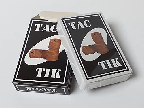 Jeu de Cartes Tac-TIK pour Jouer avec Un Plateau Tac-TIK, Tock ou Petits Chevaux Non fourni - Fabriqué en France