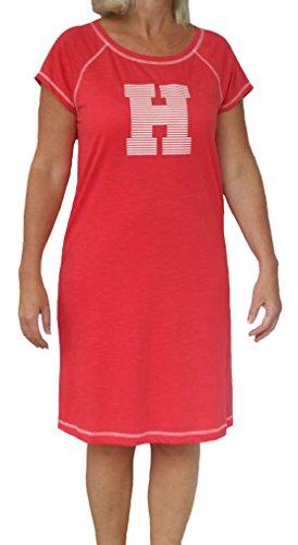 Tommy Hilfiger Women's H Logo Short Sleeve Nightgown Nightshirt (Medium)