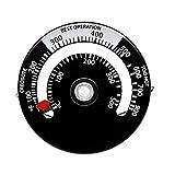 HITECHLIFE - Termómetro magnético para estufa, aleación de aluminio, accesorios para chimenea, para evitar el sobrecalentamiento dañado del ventilador (termómetro de chimenea)