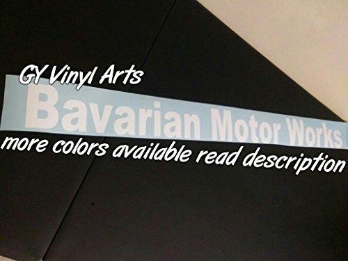 SUPERSTICKI® BMW Bavarian Motor Works Windshield Aufkleber Decal Hintergrund/Maße in inch s Cars Stickers Banners Graphic Die Cut