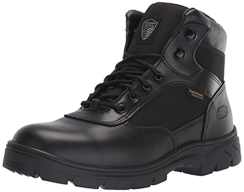 Skechers Men's Wascana-Benen Military and Tactical Boot, Black, 9