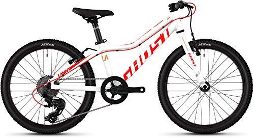 Ghost Lanao R1.0 AL W 20R Mädchen Mountain Bike 2019 (20 Zoll, Star White/Neon Red/Juice Orange)