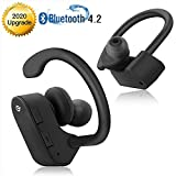 aioyo Auriculares Bluetooth Deportivos, Inalámbricos Running IPX5 Impermeable Cascos V5.0In-Ear, Correr con Hi-Fi Micrófono, Cancelación de Ruido CVC 6.0 Gimnasio,Viajes,Deporte para iPhone y Android