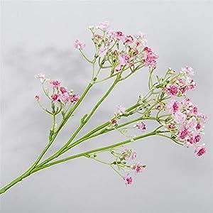 TRRT Fake Plants Artificial Silk Gypsophila Flowers, Fake Flowers Branch, Wedding Party Home Decor Fake Flower