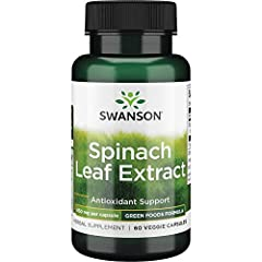 Maximum strength extract delivers beneficial thylakoids, chlorophyll and more Pure spinach power in a capsule Low-temperature waterextraction process Vegetarian Per GMP guidelines set forth by the FDA, most products are formulated for 24 months from...