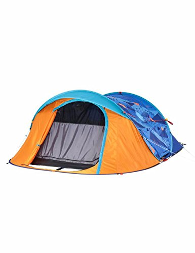 SJQKA-camp de toile, de 2 à 3 personnes, plus vite l'impression automatique des tentes,orange bleu imprimé