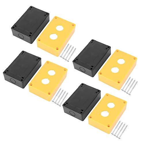 Caja de control de interruptor impermeable de 4 uds, estación de botón pulsador de parada de emergencia de doble orificio, 22mm para ingeniería electrónica