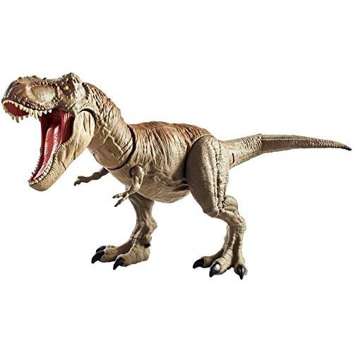 Jurassic World Tirannosauro Mordi e Attacca di Dimensioni Superiori con Mosse d'Attacco di Testa e Coda, Giocattolo per Bambini di 4+ Anni, GCT91, Imballaggio Standard