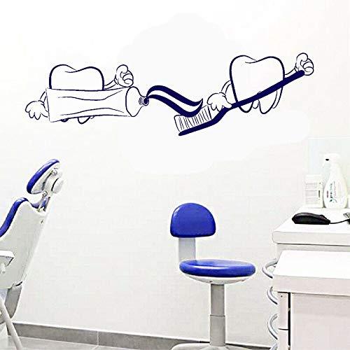 Dientes dentista pegatinas de pared de vinilo dentista baño   Adecuado para decoración de pegatinas de pared de sala de juegos para bebés.