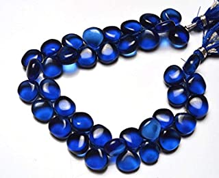 Jewel Beads Natural Beautiful jewellery 1 Strand Natural Kyanite Blue Color Hydro Quartz Beads 7 inch AAA Quality,TealSmooth Heart Shape Briolettes 10 MMCode:- JBB-3188