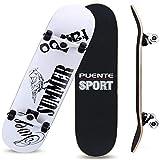 XJJY Skate Mini Cruiser Longboard 8 Couches Decks Pro complète Panneau de Skate Boîte d'érable Longboards pour débutants Adultes Adultes garçons garçons barbotoirs Double Kick Board,B