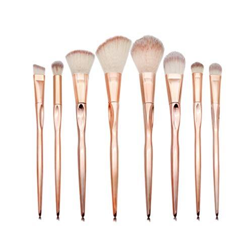 Beaupretty ensemble de pinceaux à maquillage base douce brosses cosmétiques synthétiques mélange de blush poudre pinceaux à lèvres fard à paupières kit 8pcs