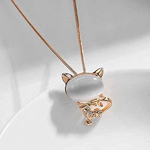 ZPPYMXGZ Co.,ltd Necklace Elegant Collar Women Fashion Sweet Cat Wild Personality Cat S Eye Pendant Alloy Clavicle