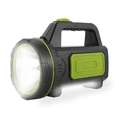 Lampe Torche Led Ultra Puissante Rechargeable USB 135000 Lumens 6000 mah avec Lumière Latérale Lampe de Poche Etanche Haute Puissance pour Urgence Randonnée Camping Chasse
