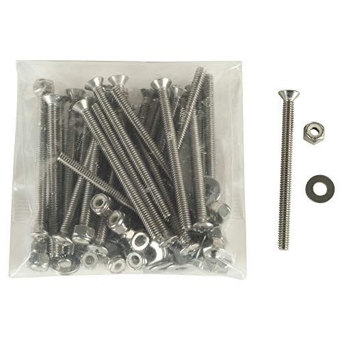 Stainless-Steel Pontoon Fence Bolt Kit, 26-Pack