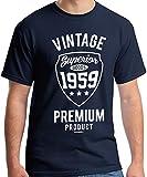 60th Birthday Gifts Cadeaux Anniversaire 60 Ans - Vintage Premium 1959 - T-Shirt Homme
