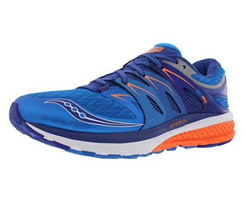Saucony Men's Zealot iso 2 Running Shoe, Blue/Orange, 8.5 M US