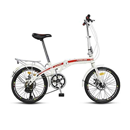 Niño niña niños niños niño bicicleta bicicleta niños bicicletas bicicleta plegable frenos de disco de cambio de 20 pulgadas para hombres y mujeres estudiantes adultos bicicleta de viaje bicicleta pa