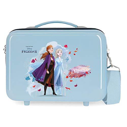 Disney Frozen Nature is magical Nececer Adaptable Azul 29x21x15 cms ABS